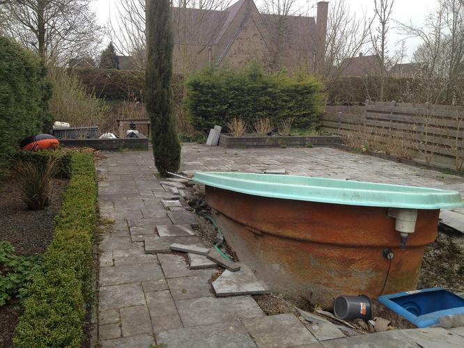 Ingraven en aansluiten klein zwembad werkspot for Zwembad voor in de tuin met pomp