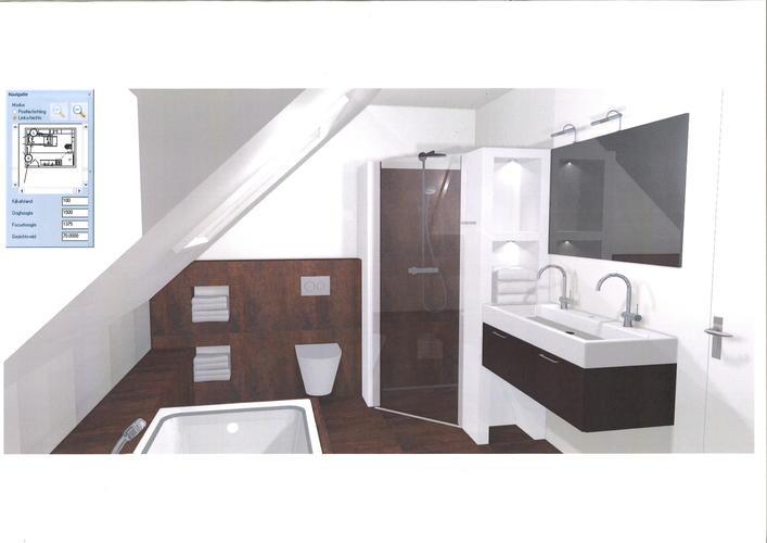 Renovatie badkamer onder schuin dak plus een toilet. - Werkspot