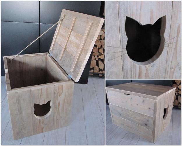 Kastje Voor Het Wegwerken Van De Kattenbak Werkspot