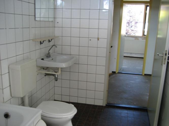 slopen badkamer/keuken/toilet en verleggen leidingen, slopen, Badkamer