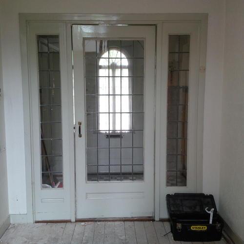 Kozijn met klapdeur binnen namaken werkspot - Afscheiding glas keuken woonkamer ...
