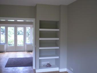 Boekenkast maken in nis woonkamer 2,60 x 0,60 meter - Werkspot