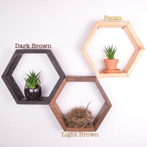 Honeycomb Shelves Decor