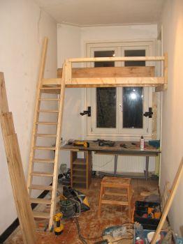 Hoogslaper maken werkspot - Bed kamer mezzanine ...