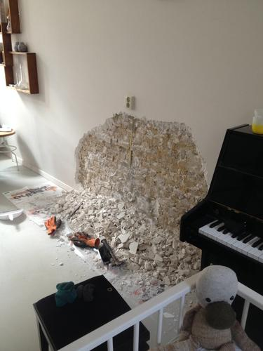 Bekend Opnieuw stucen muur na verwijderen stucwerk door hol klinkende ES79