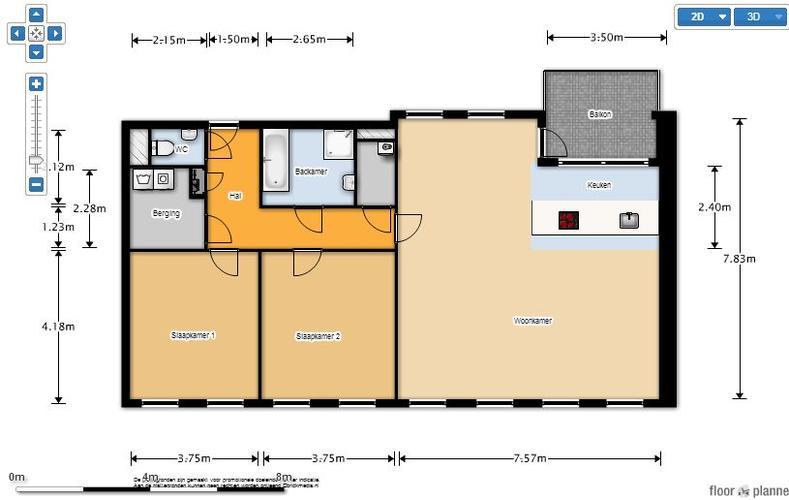 Spackspuiten appartement 120m2 wand 100 m2 plafond werkspot - Plan appartement 120 m2 ...