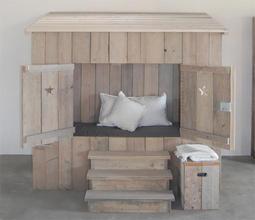 Peuterkamer van steigerhout maken bed kast en bureau evt for Bed van steigerhout maken