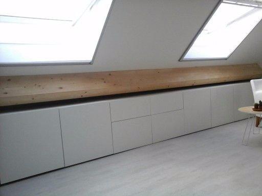New Karwei of Ikea Ladekast inbouwen schuine wand zolder (ca 3m breed &PN74