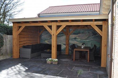 Voor en achtertuin veranda werkspot - Voorbeeld terras ...