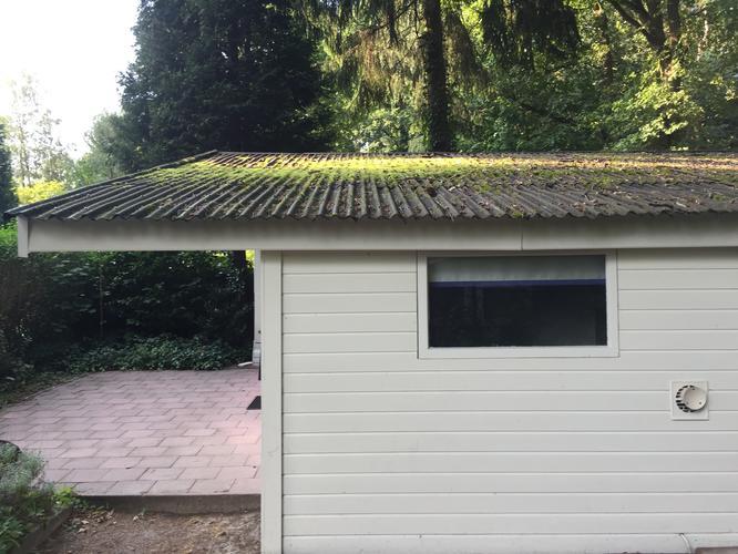 Dak Garage Vervangen : Dak chalet vervangen golfplaten eraf houten platen erop en dan bede