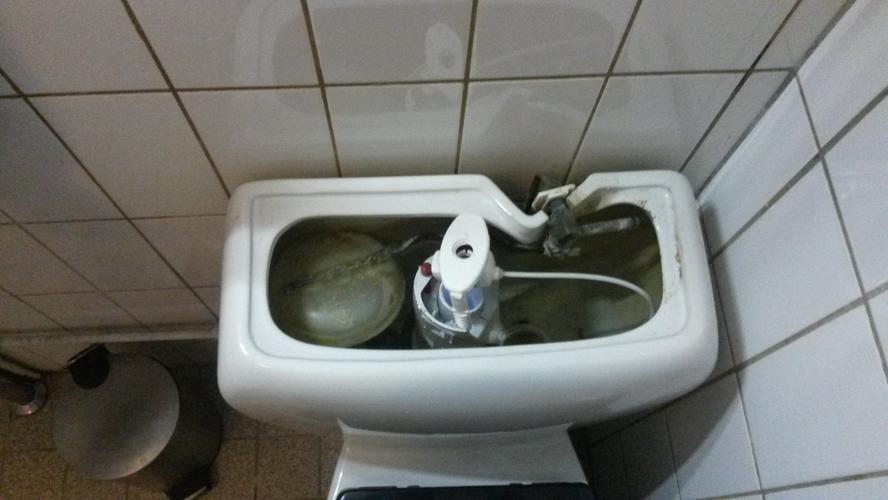 Vlotter binnenwerk wc vervangen zodat hij weer goed doortrekt werkspot - Welke kleur in het toilet ...