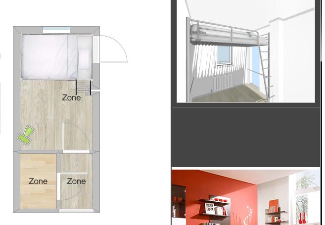 Tweepersoons hoogslaper bouwen in kleine kamer werkspot for Doorloophoogte trap