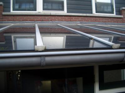 Dak van uitbouw vervangen voor glazen dak werkspot - Glazen dak dak glijdende ...