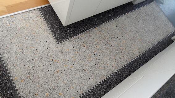 Terrazzo vloer voor gang en keuken werkspot for Schilderen voor gang d