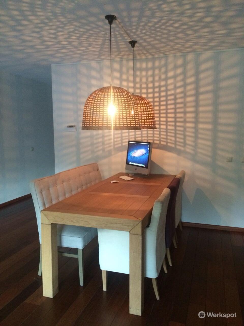 ophangen 2 hanglampen werkspot. Black Bedroom Furniture Sets. Home Design Ideas