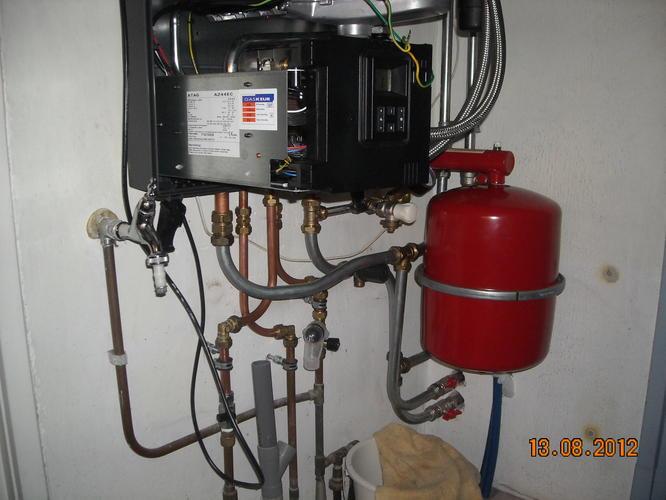 inspektie aansluiten nieuwe cv-ketel   gas aansluiten