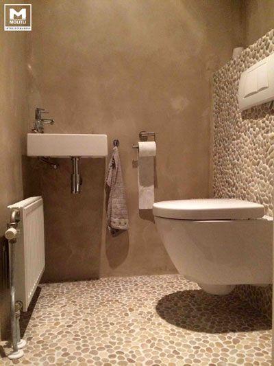 betonstuc zijwanden toilet - Werkspot