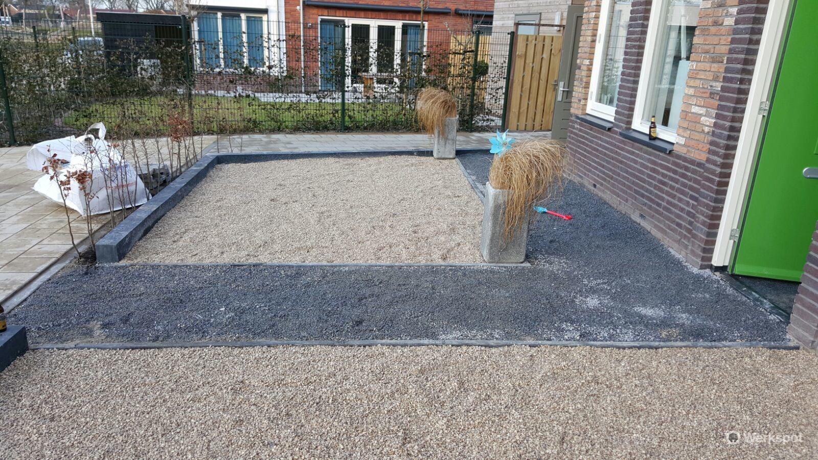 Grind Tuin Aanleggen : Voortuin aanleggen met grind werkspot