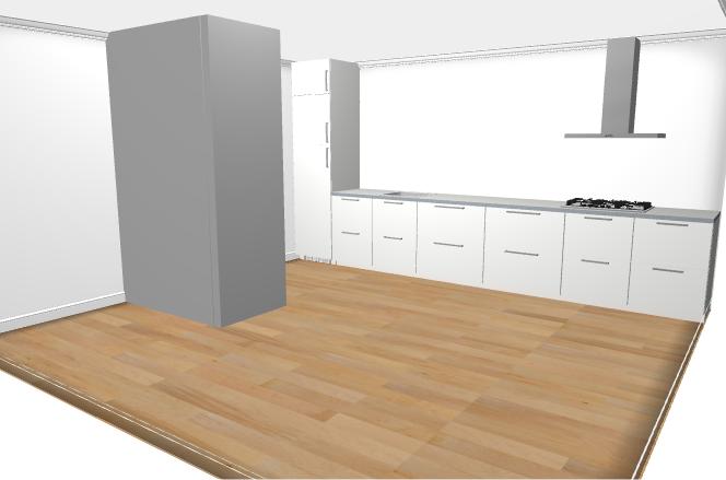 Magnifiek Rechte keuken (zonder bovenkastjes) plaatsen, alle voorbereidingen @HV62