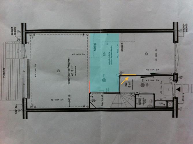 deur woonkamer verplaatsen, wandje en verlaagd plafond in, Deco ideeën