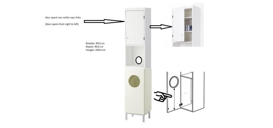 Verrassend Hoge kasten- kast voor wasgoed - Werkspot NS-11