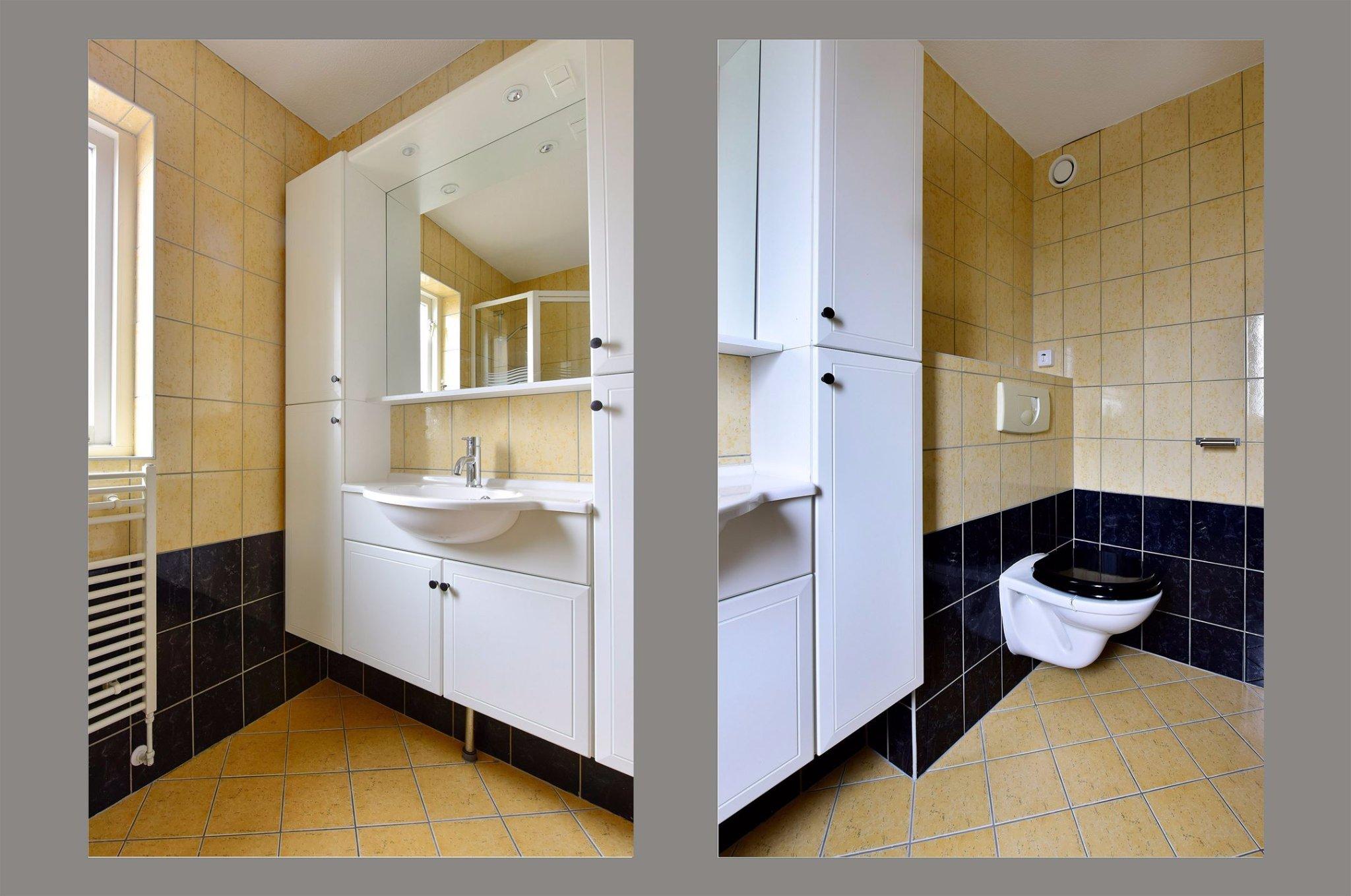Waterleidingen en elektra verleggen vloerverwarming aanleggen werkspot - Huidige badkamer ...