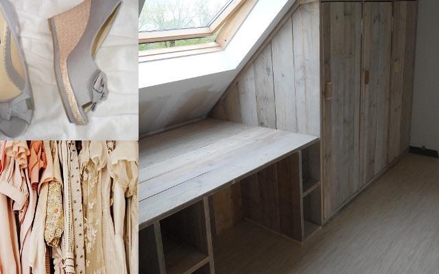 Kast maken onder schuine wand werkspot - Planken maken in een kast ...