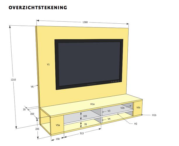 Tv Meubel Met Achterwand.Zwevend Tv Meubel Met Achterwand In Elkaar Zetten Monteren 1360 B