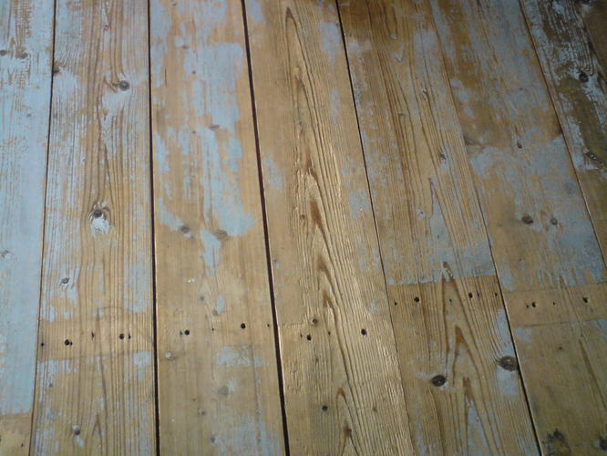 grenen planken vloer schuren   Werkspot