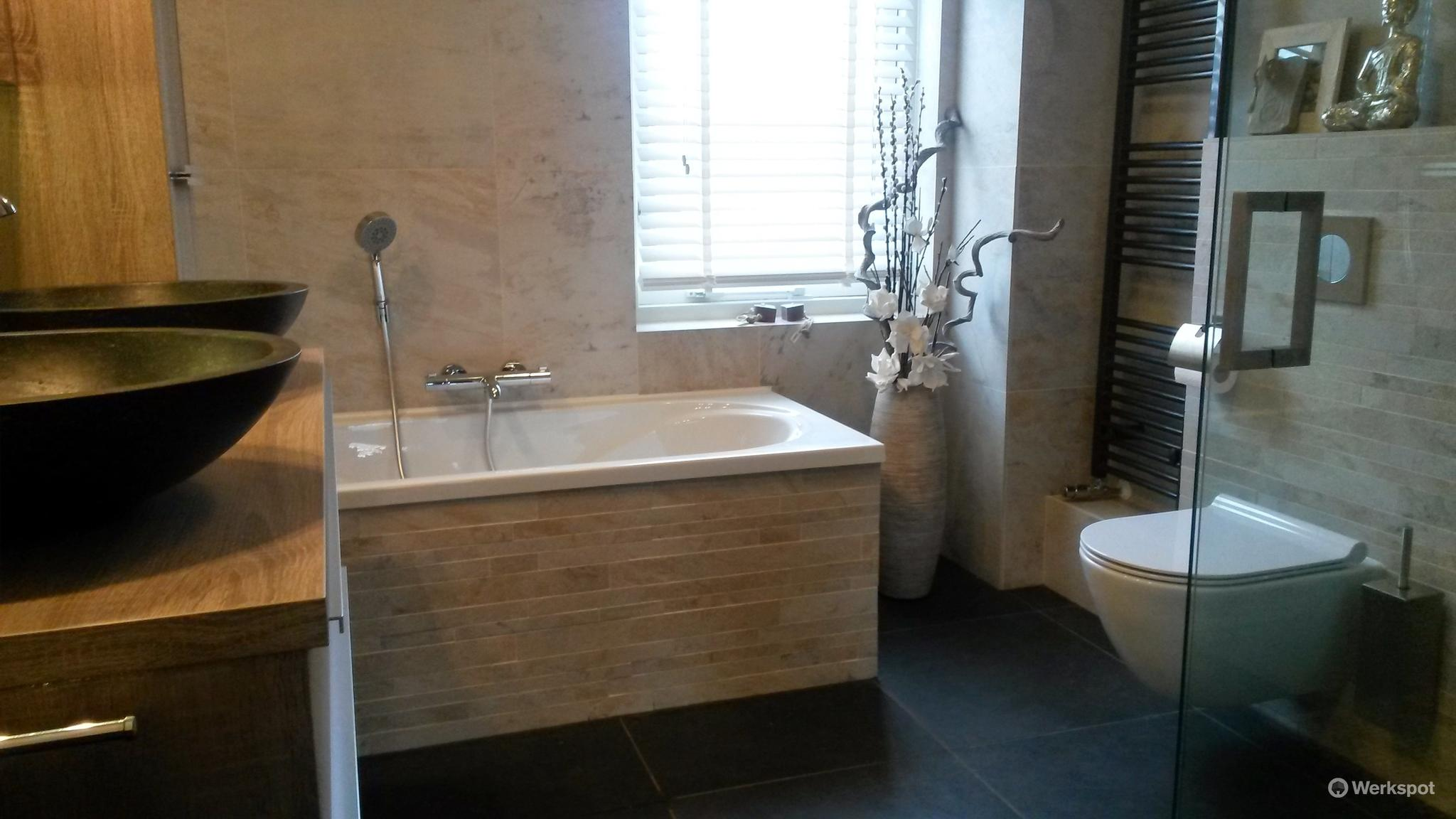 best nieuwe badkamer installeren images house design