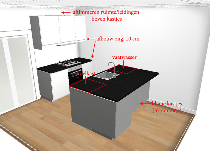 Wand Ikea Keuken : Monteren ikea keuken wand schiereiland werkspot