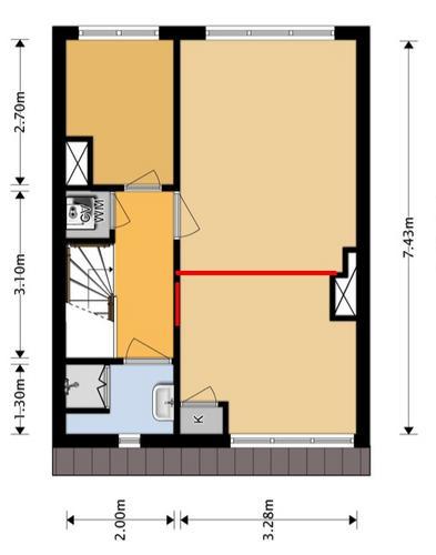 Van 1 kamer 2 kamers maken - Werkspot