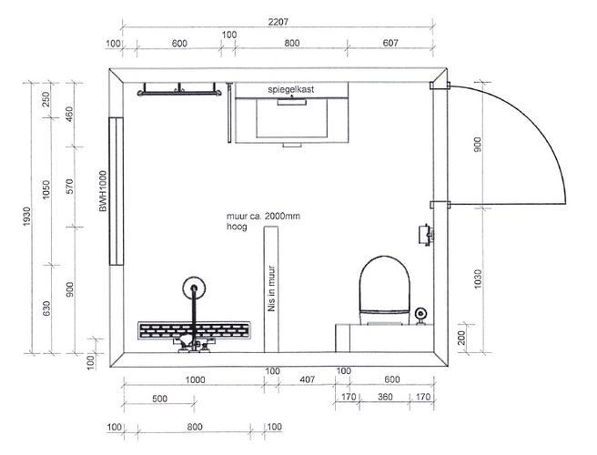Stunning Badkamer Afmetingen Images - Moderne huis - clientstat.us