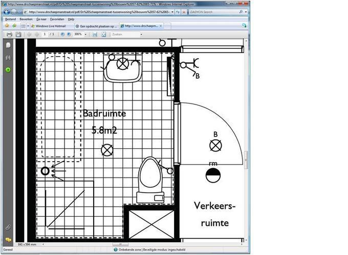 Tegelen van badkamer vloer 5,6m2 en muren 22m2 - Werkspot