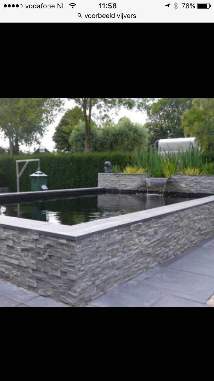 Vijver aanleggen terras maken werkspot for Vierkante vijver maken