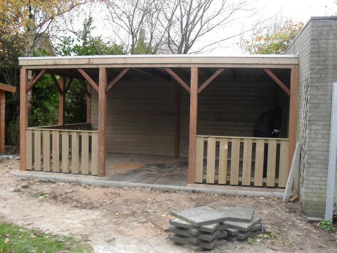 Overkapping achtertuin werkspot - Modern prieel aluminium ...