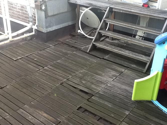 Aanleg houten vloer dakterras werkspot
