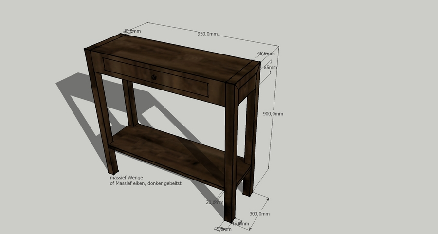 Donker Eiken Side Table.Massief Houten Side Table In Wenge Of Eiken Werkspot