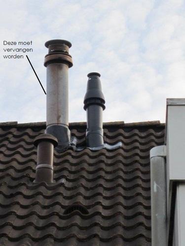Plaatsen dakdoorvoer voor mechanische ventilatie. - Werkspot