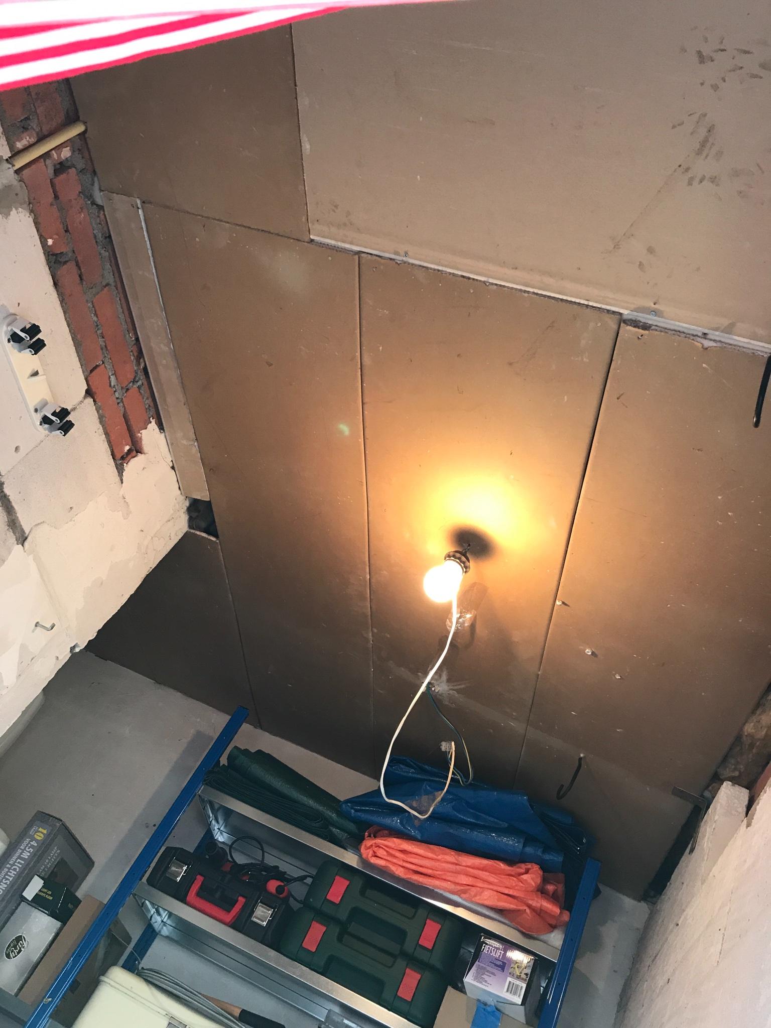 muur en plafond schuur vervangen werkspot