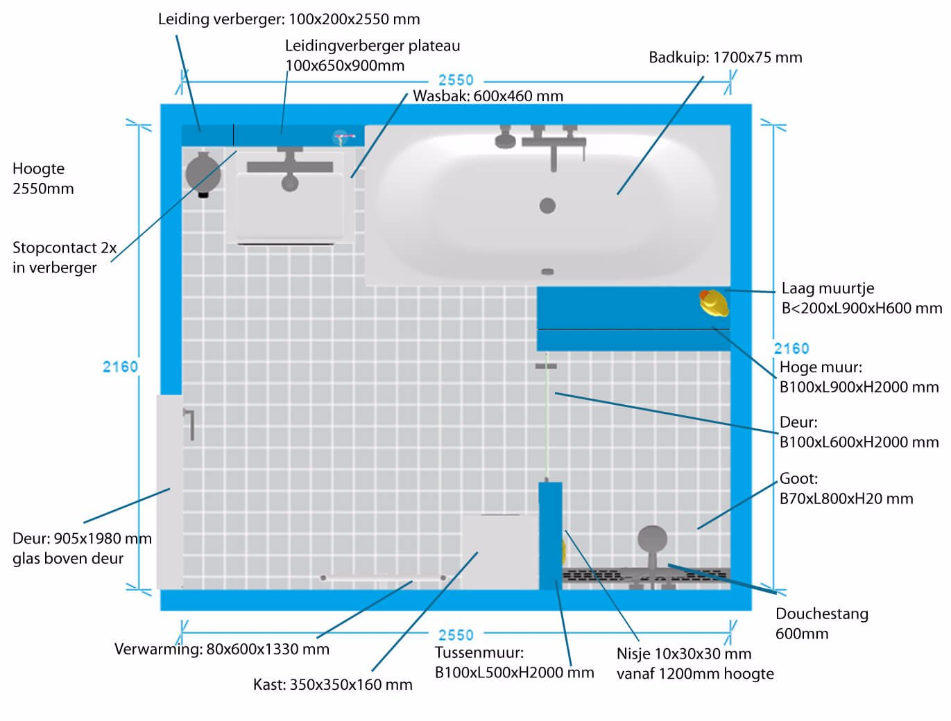 Verbouwing badkamer+wc+cv installatie - Werkspot