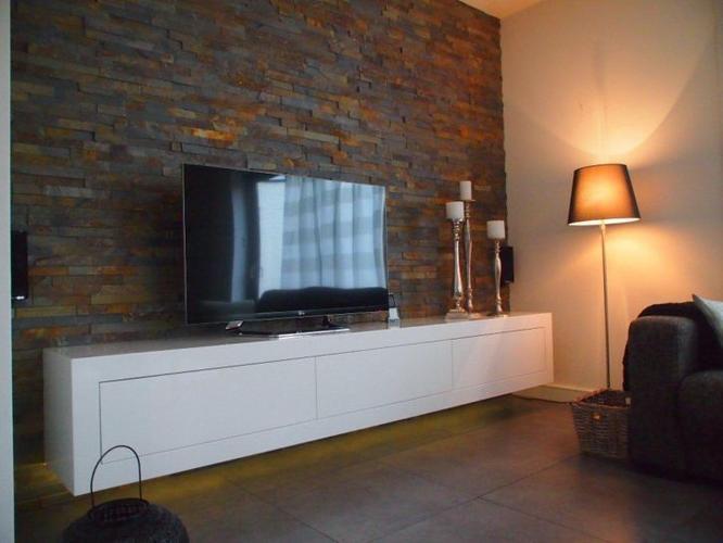 Het maken van een zwevend tv meubel lowboard in hoogglans wit