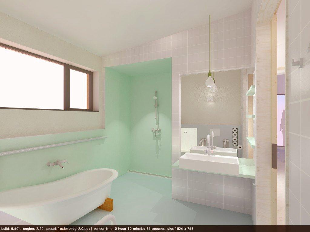 Badkamer voorzien van waterdichte coating werkspot