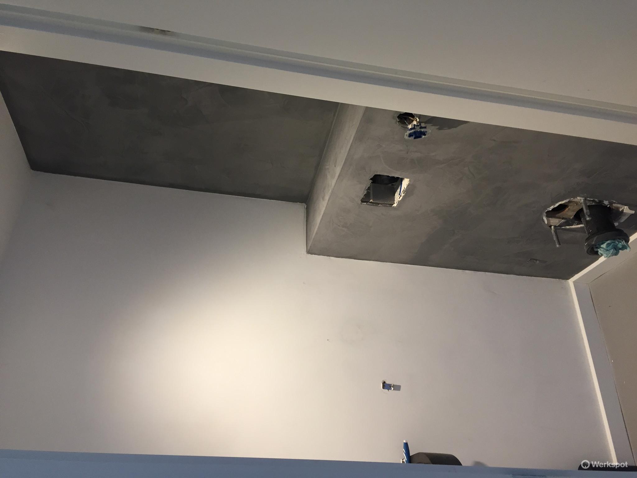 Wc stuccen achterwand in pandomo betonstuc beton ciré werkspot
