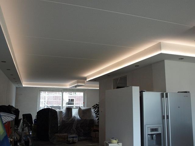maken van koof met spotjes en verlichting werkspot