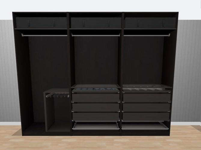 Pax Kast Schuifdeuren : Ikea pax kast afmaken schuifdeuren muurbevestiging elektra inte