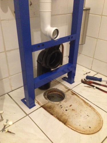 afvoer toilet 10 cm verplaatsen - werkspot, Badkamer