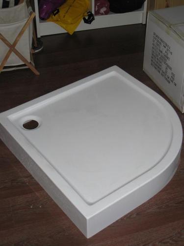 opbouw douchebak plaatsen en afvoer aansluiten