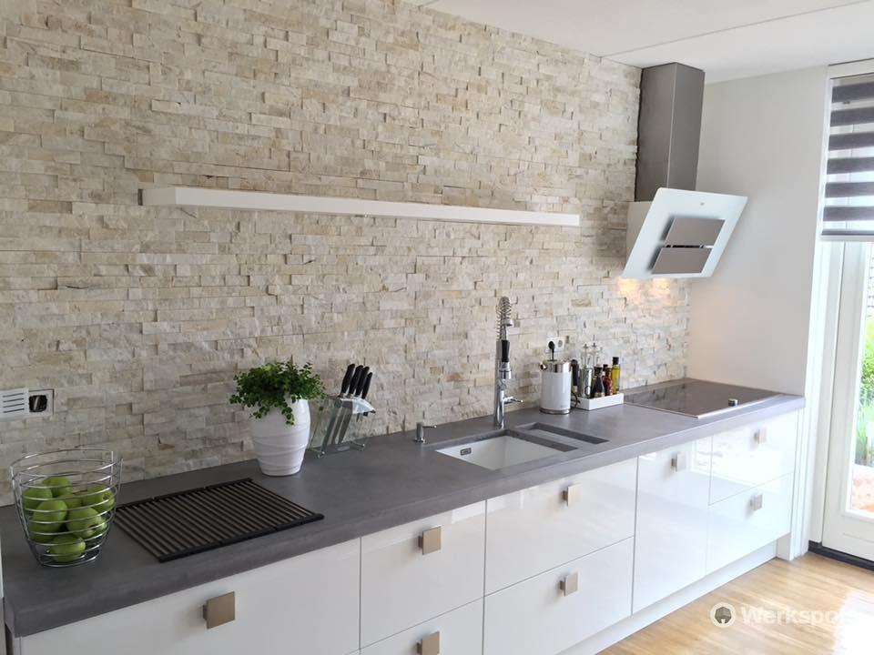 Over spuiten verven keuken naar hoogglans wit werkspot - Keuken wit en groen ...