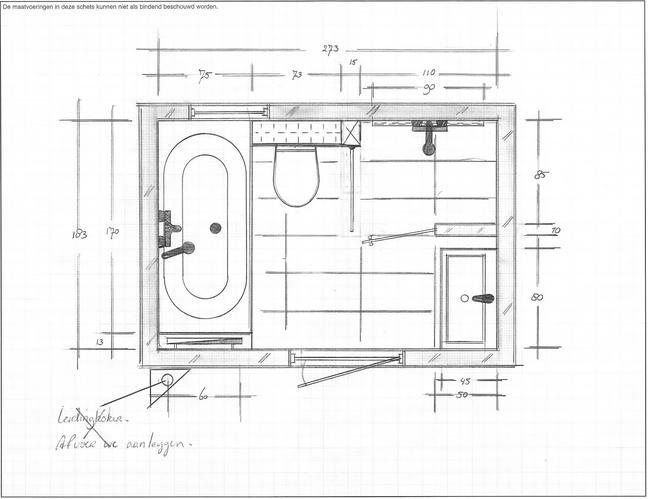 Stunning Badkamer Tekening Gallery - New Home Design 2018 - ummoa.us